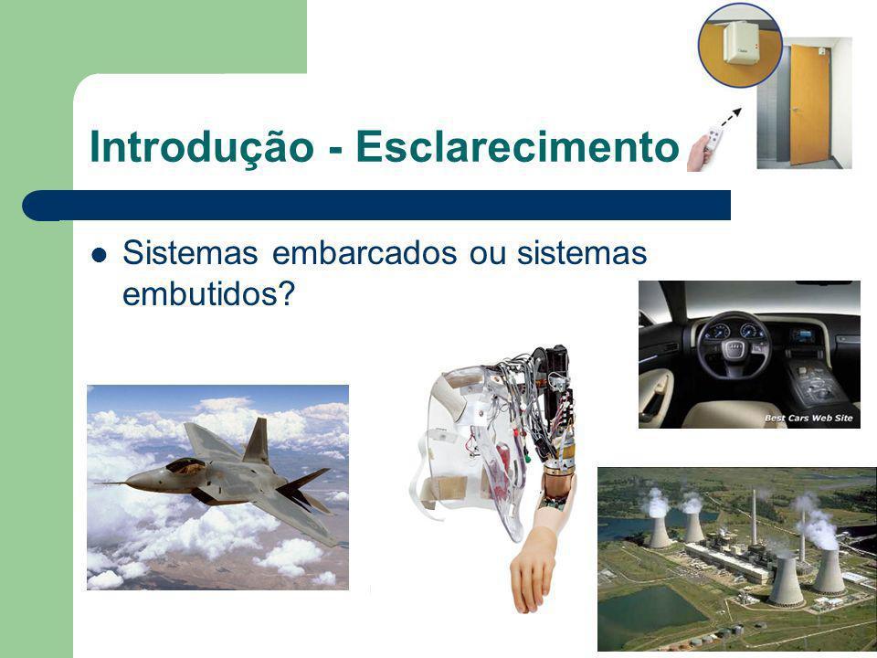 Introdução - Esclarecimento Sistemas embarcados ou sistemas embutidos?