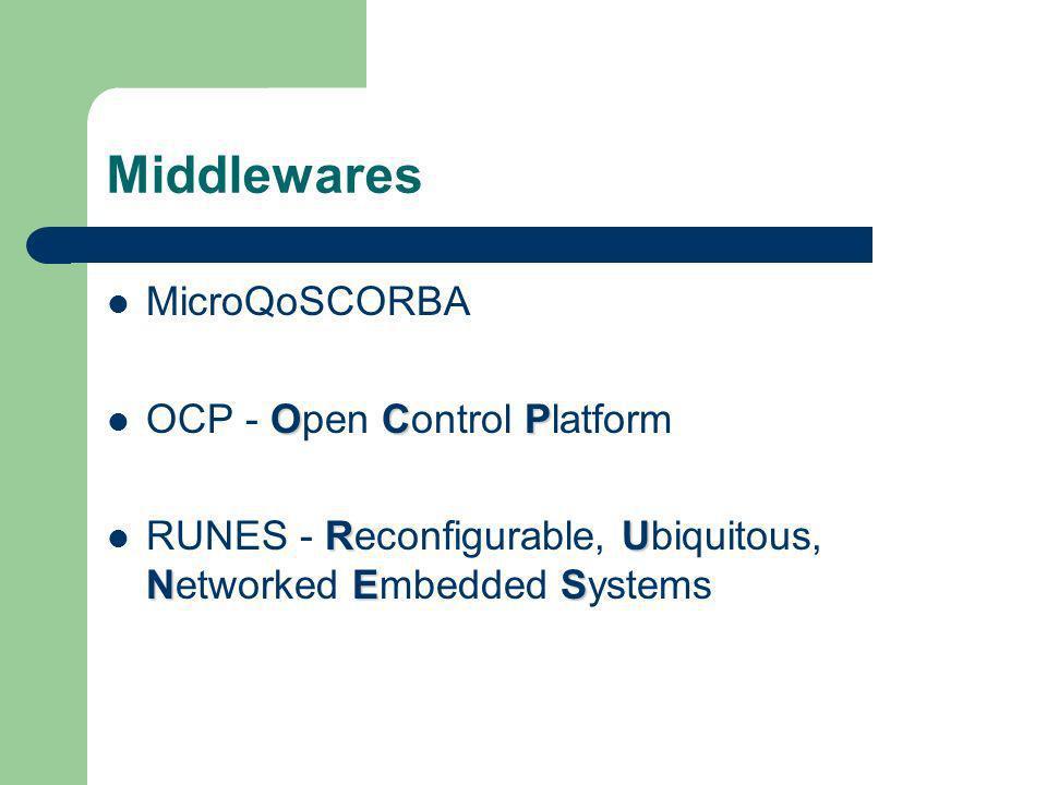 MicroQoSCORBA – Visão Geral Sistema baseado em CORBA.