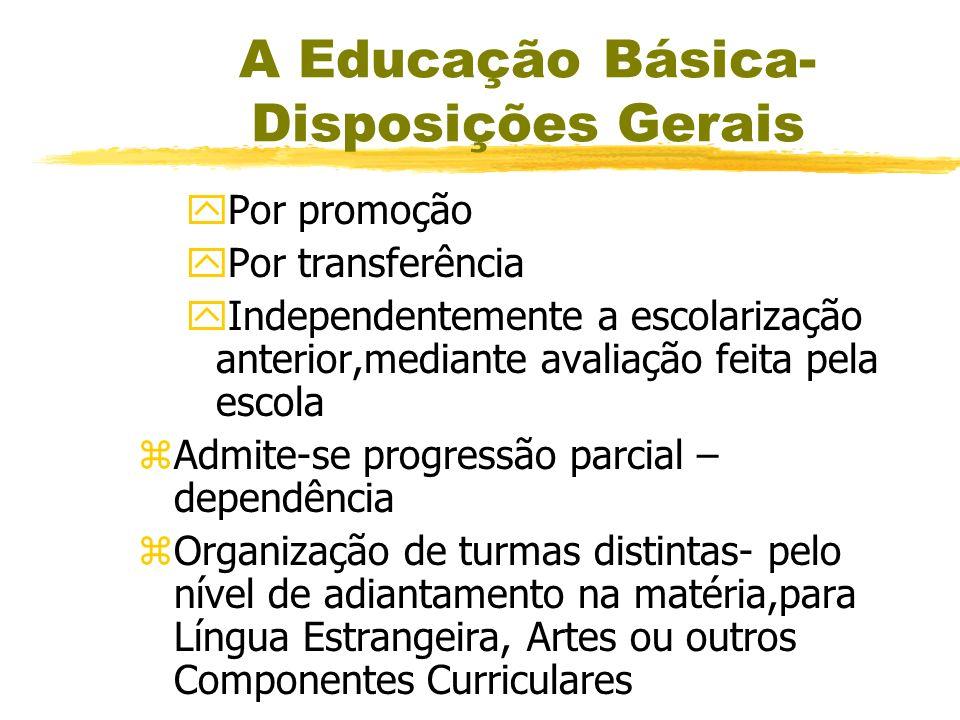 A Educação Básica- Disposições Gerais zA carga horária mínima anual será de 800 horas, distribuídas por um mínimo de 200 dias de efetivo trabalho esco
