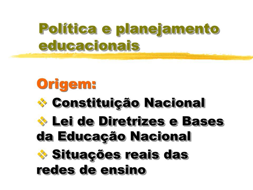 Política e planejamento educacionais Para se compreender o real significado da legislação não basta ater-se à letra da lei; é preciso captar o seu esp