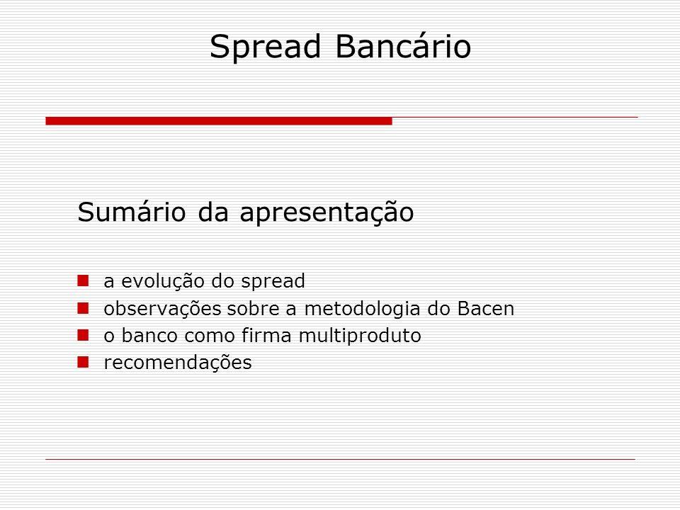 Spread Bancário Cálculo do spread pelo Banco Central