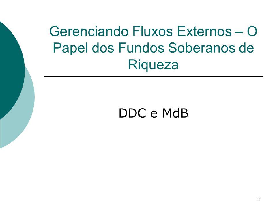 1 Gerenciando Fluxos Externos – O Papel dos Fundos Soberanos de Riqueza DDC e MdB