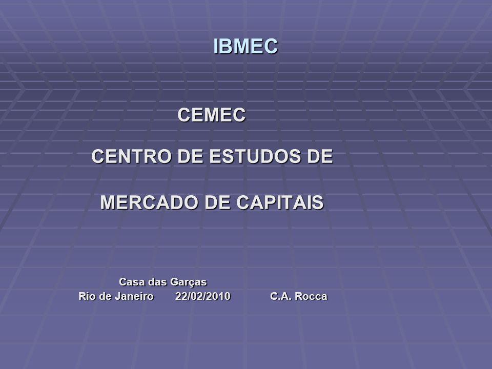 INDICE 1.CEMEC : objetivos, projeto 2.