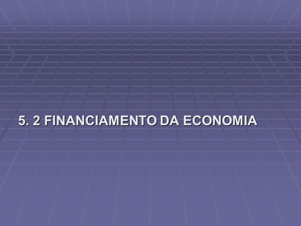 5. 2 FINANCIAMENTO DA ECONOMIA