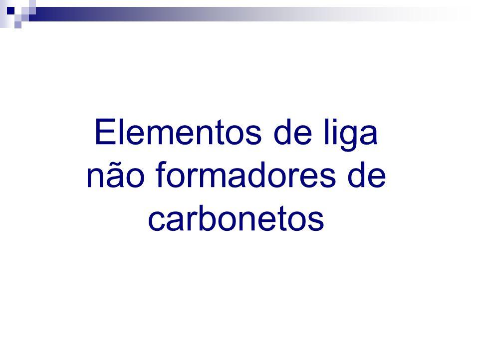 Elementos de liga não formadores de carbonetos