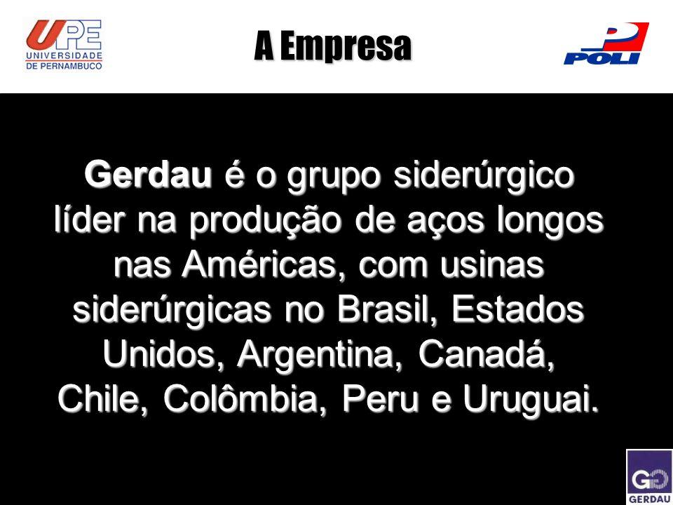 A Empresa Gerdau é o grupo siderúrgico líder na produção de aços longos nas Américas, com usinas siderúrgicas no Brasil, Estados Unidos, Argentina, Ca