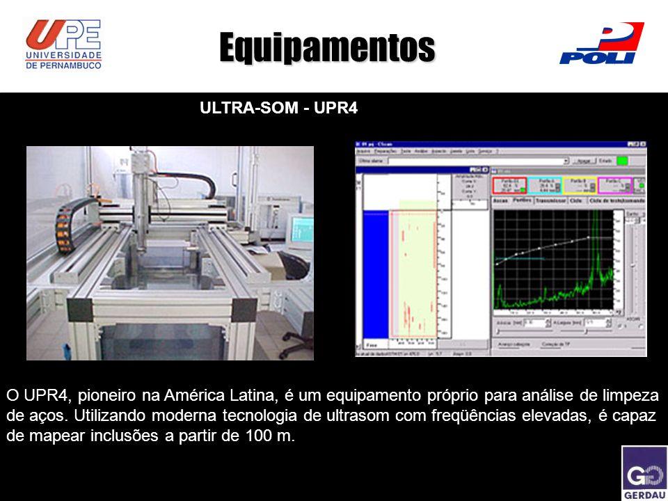 Equipamentos ULTRA-SOM - UPR4 O UPR4, pioneiro na América Latina, é um equipamento próprio para análise de limpeza de aços. Utilizando moderna tecnolo