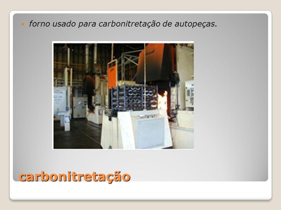 carbonitretação forno usado para carbonitretação de autopeças.