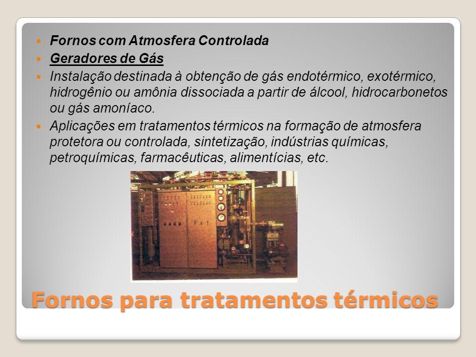 Fornos para tratamentos térmicos Fornos com Atmosfera Controlada Geradores de Gás Instalação destinada à obtenção de gás endotérmico, exotérmico, hidr