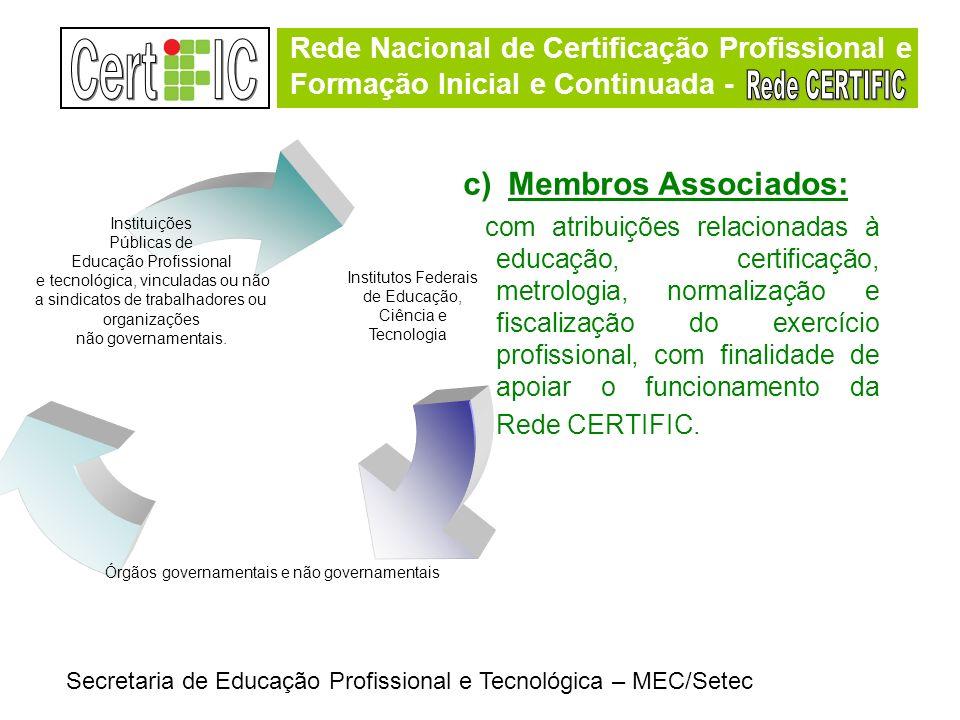 Rede Nacional de Certificação Profissional e Formação Inicial e Continuada - Rede Nacional de Certificação Profissional e Formação Inicial e Continuad
