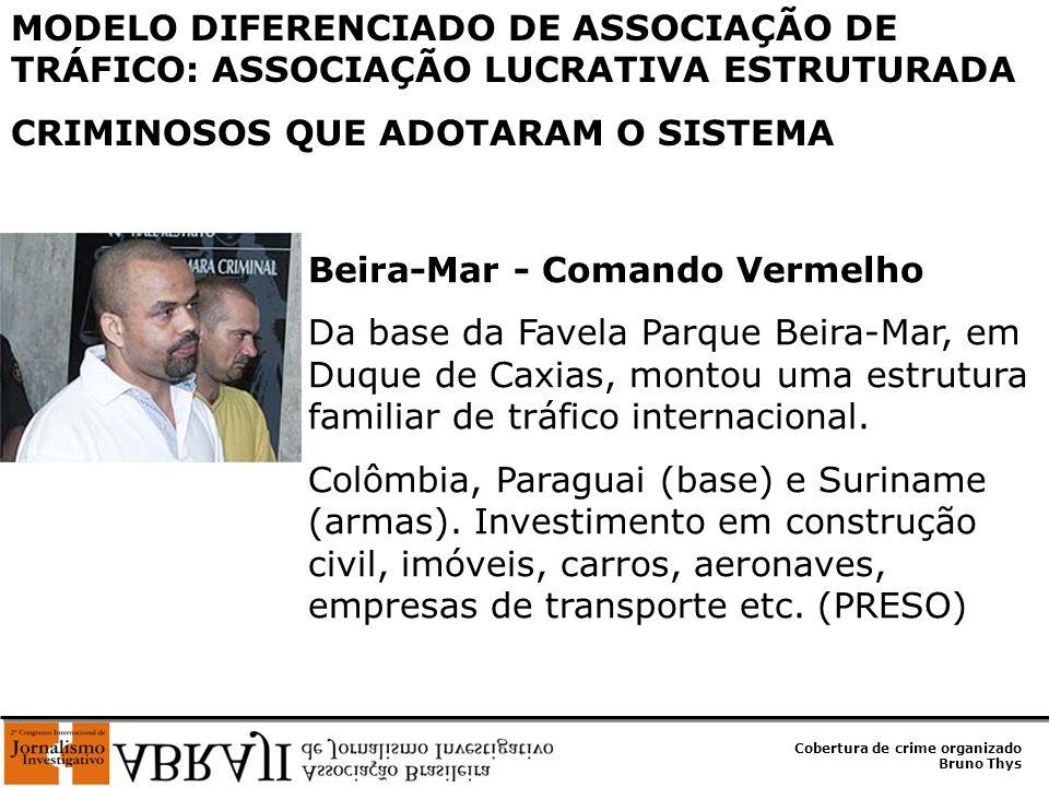 Cobertura de crime organizado Bruno Thys UÊ - Amigos dos Amigos Fundador dessa facção em 1996, era dono de pontos em 13 morros do Rio.