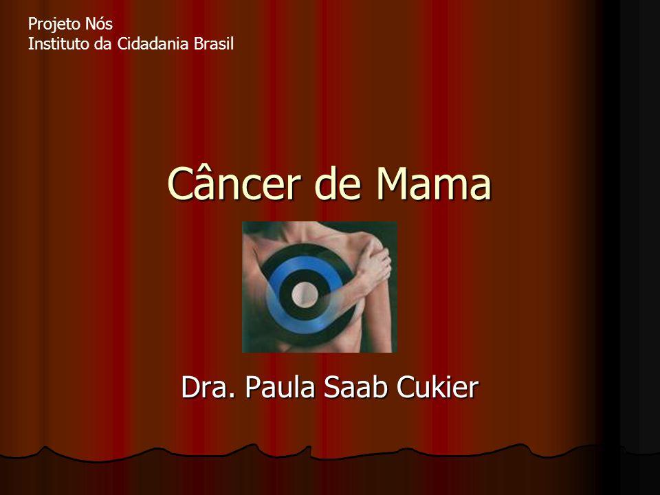 Câncer de Mama Dra. Paula Saab Cukier Projeto Nós Instituto da Cidadania Brasil
