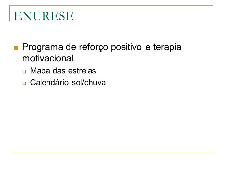 ENURESE Programa de reforço positivo e terapia motivacional Mapa das estrelas Calendário sol/chuva