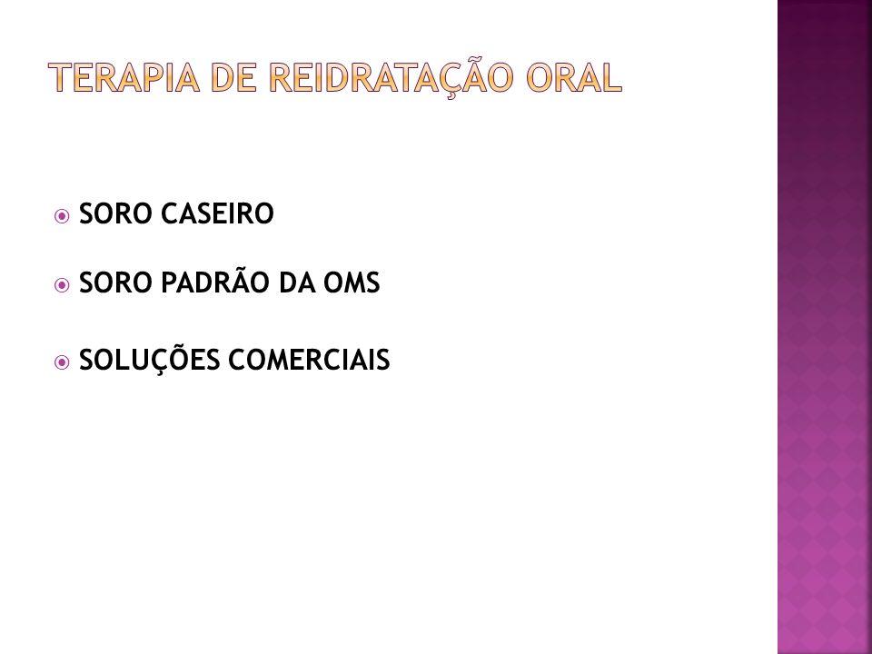 SORO CASEIRO SORO PADRÃO DA OMS SOLUÇÕES COMERCIAIS