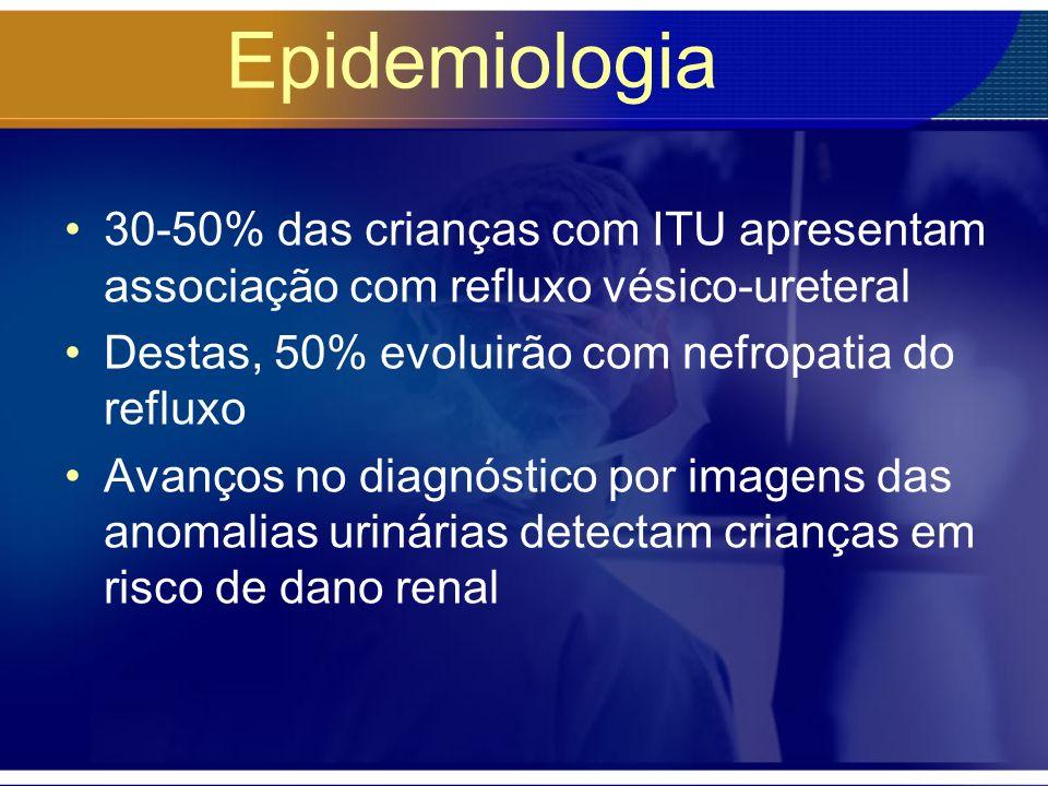 Diagnóstico Qualitativo de urina –Sedimento urinário (urina tipo 1) Leucocitúria (80%) –Nitrito positivo –Estearase leucocitária positiva Juntos: – sensibilidade 78-92% e especificidade 60-98% Can Fam Physician 2001:47:1603-8
