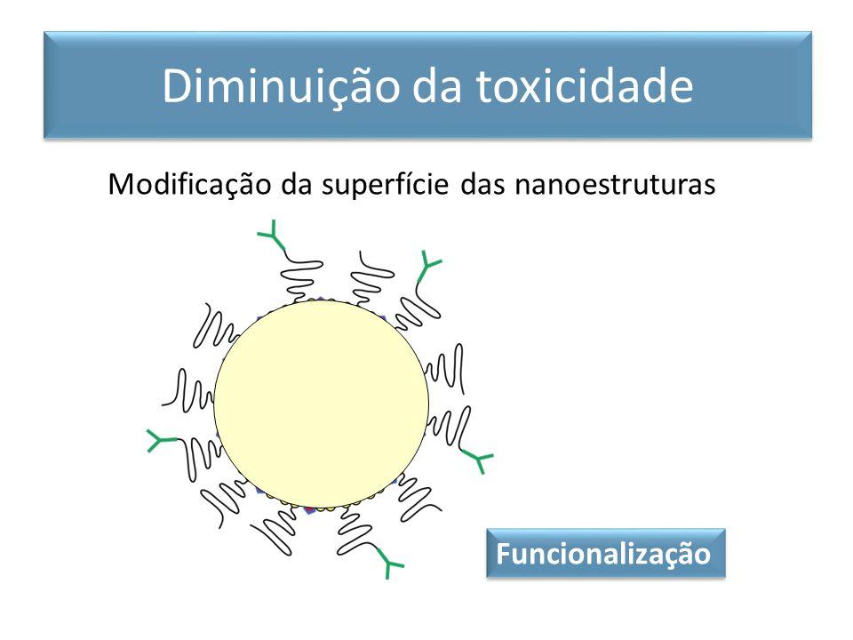 Modificação da superfície das nanoestruturas Diminuição da toxicidade Funcionalização
