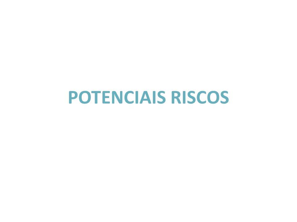 POTENCIAIS RISCOS