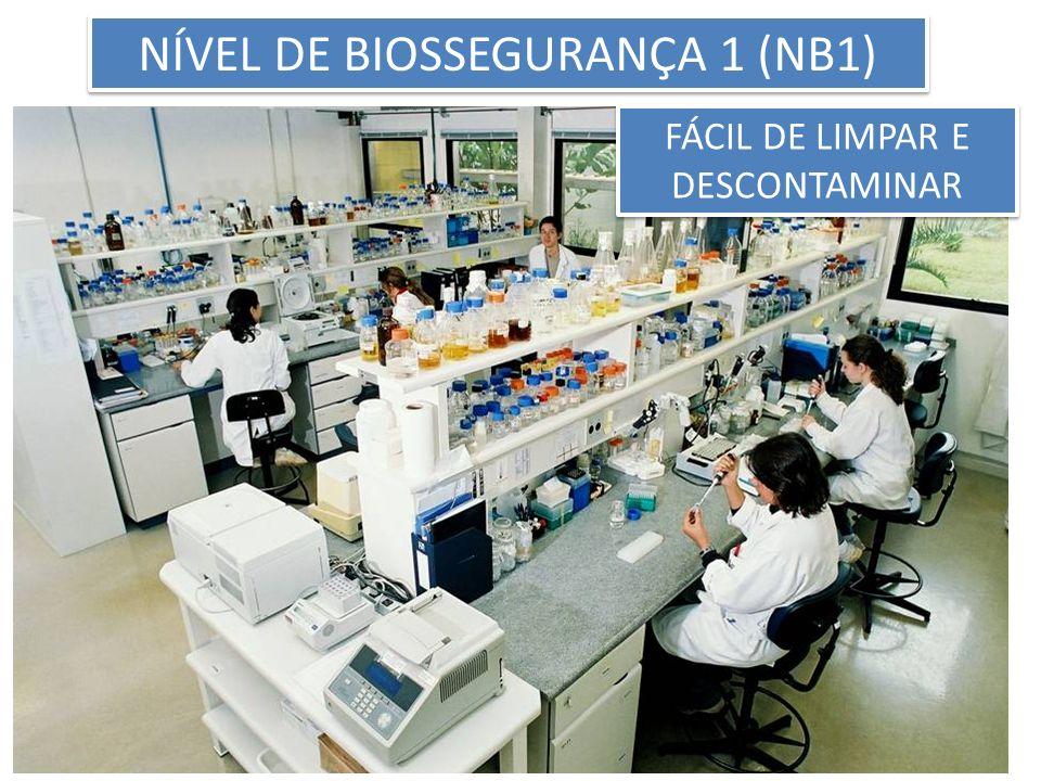 FÁCIL DE LIMPAR E DESCONTAMINAR