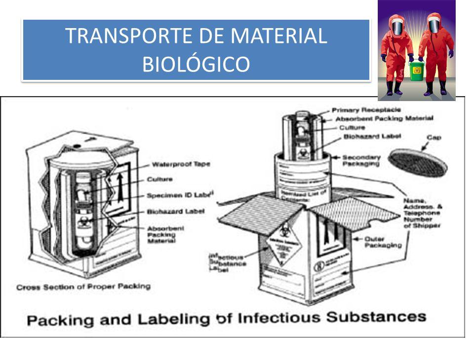 TRANSPORTE DE MATERIAL BIOLÓGICO