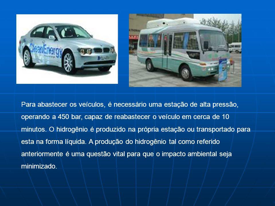 Para abastecer os veículos, é necessário uma estação de alta pressão, operando a 450 bar, capaz de reabastecer o veículo em cerca de 10 minutos. O hid