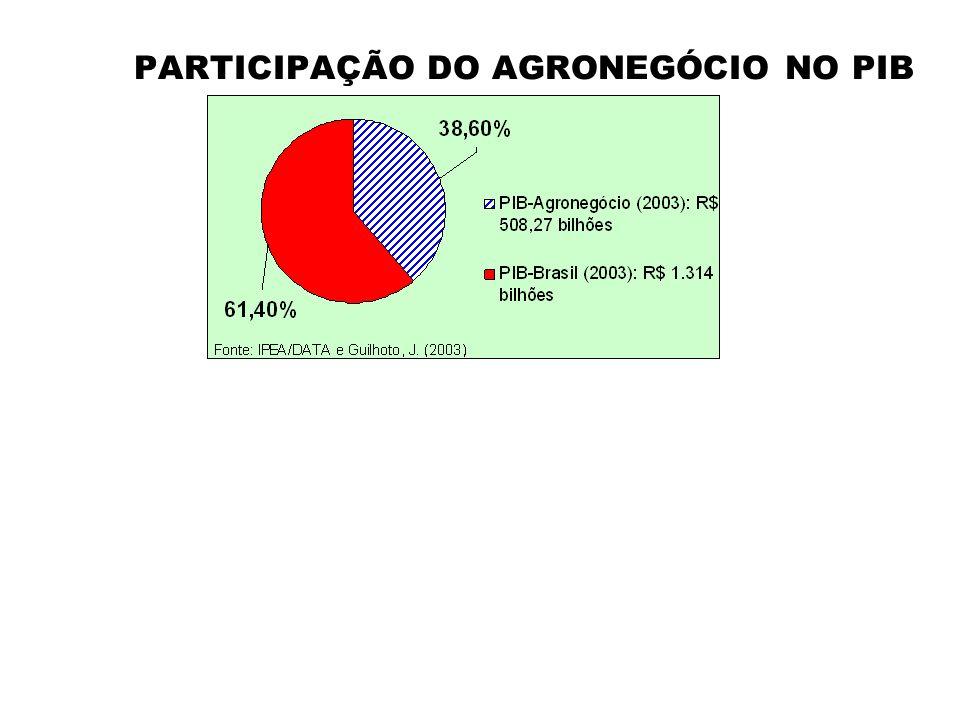 PARTICIPAÇÃO DO AGRONEGÓCIO NO PIB