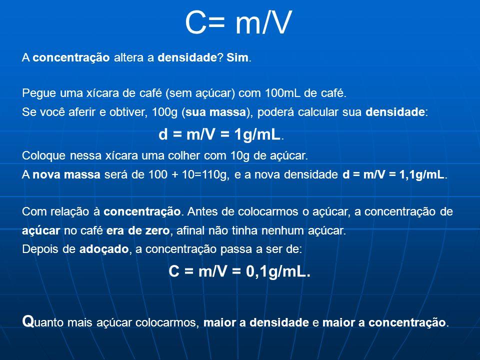 Molaridade e concentração molar Para a química as quantidades são, expressas em mols ou moles (plural de mol).