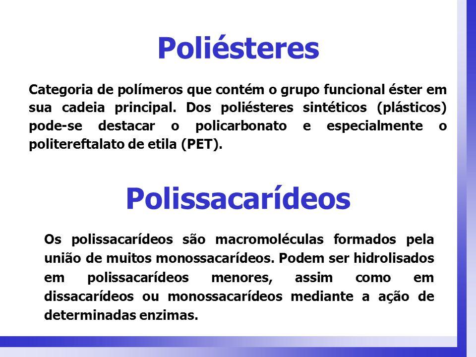 Polissacarídeos Os polissacarídeos são macromoléculas formados pela união de muitos monossacarídeos. Podem ser hidrolisados em polissacarídeos menores