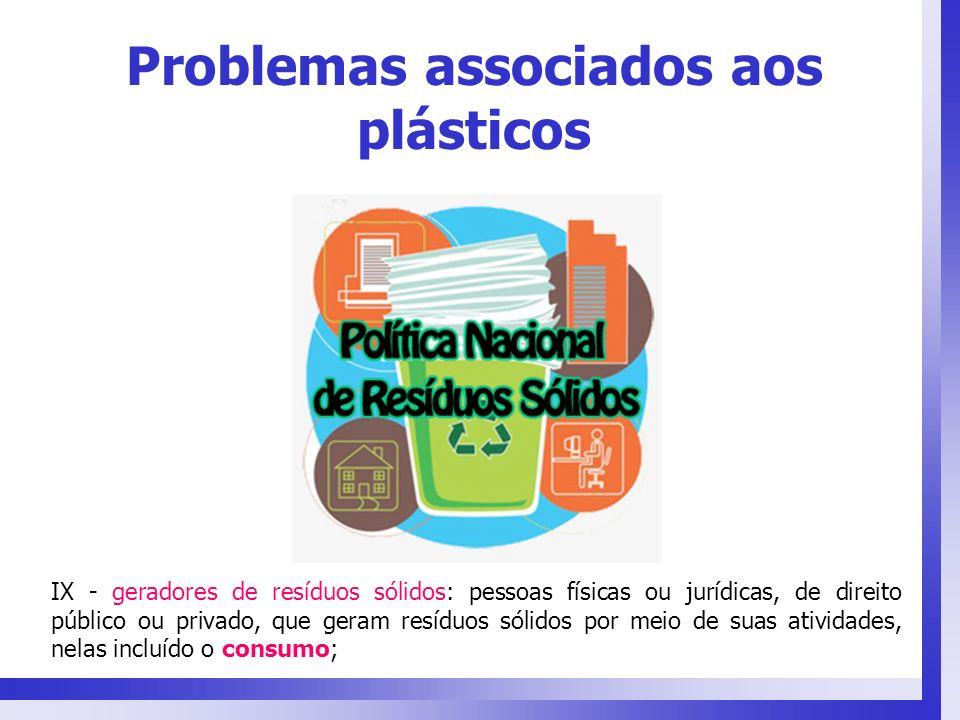 IX - geradores de resíduos sólidos: pessoas físicas ou jurídicas, de direito público ou privado, que geram resíduos sólidos por meio de suas atividade