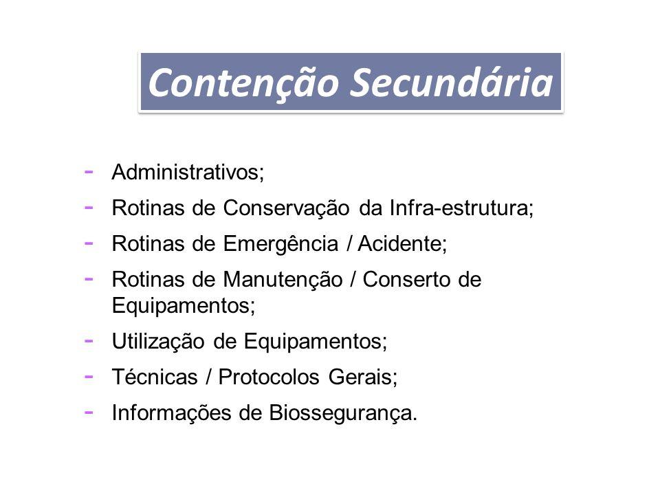 PROCEDIMENTOS OPERACIONAIS PADRÃO - Administrativos; - Rotinas de Conservação da Infra-estrutura; - Rotinas de Emergência / Acidente; - Rotinas de Man