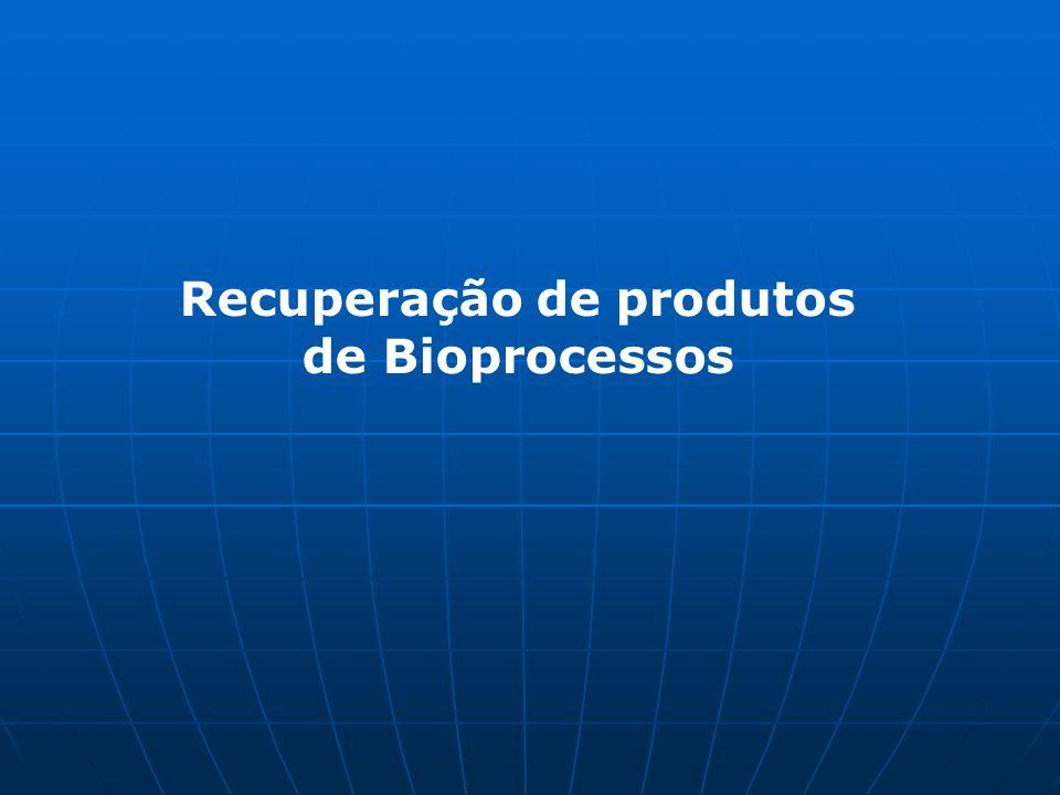 Recuperação de produtos de Bioprocessos