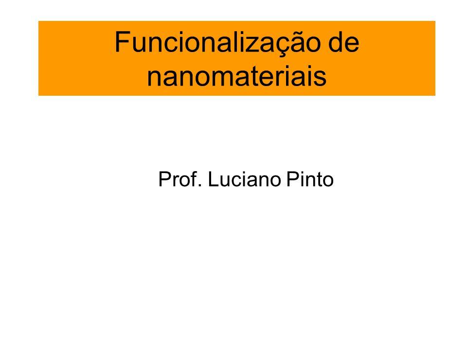 Funcionalização de nanomateriais Prof. Luciano Pinto