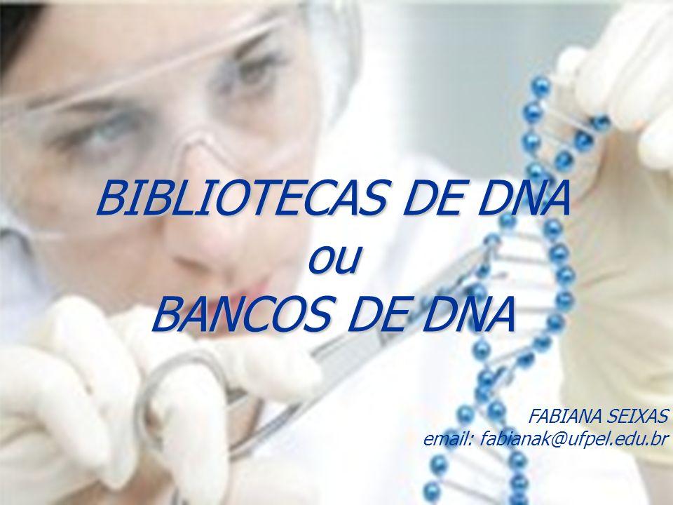 FABIANA SEIXAS email: fabianak@ufpel.edu.br BIBLIOTECAS DE DNA ou BANCOS DE DNA