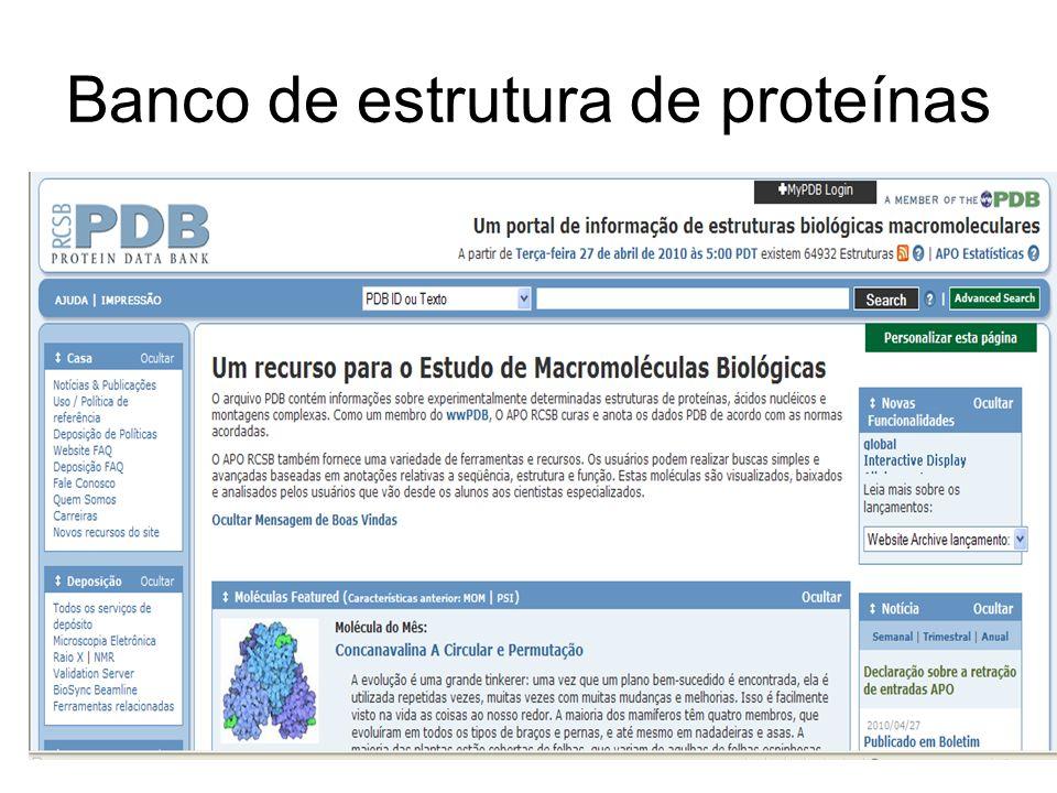 Banco de estrutura de proteínas