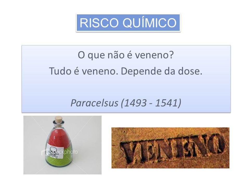 O que não é veneno? Tudo é veneno. Depende da dose. Paracelsus (1493 - 1541) O que não é veneno? Tudo é veneno. Depende da dose. Paracelsus (1493 - 15