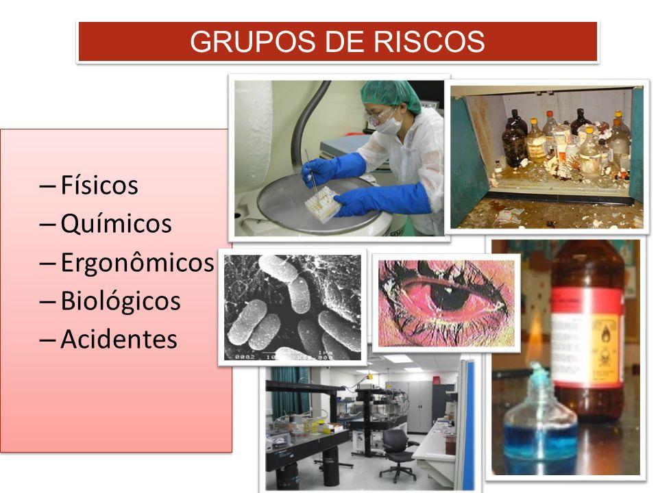 GRUPOS DE RISCOS – Físicos – Químicos – Ergonômicos – Biológicos – Acidentes – Físicos – Químicos – Ergonômicos – Biológicos – Acidentes