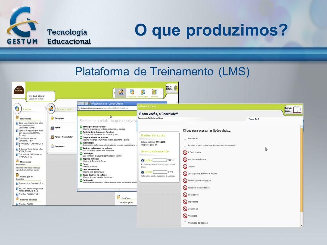 Plataforma de Treinamento (LMS)