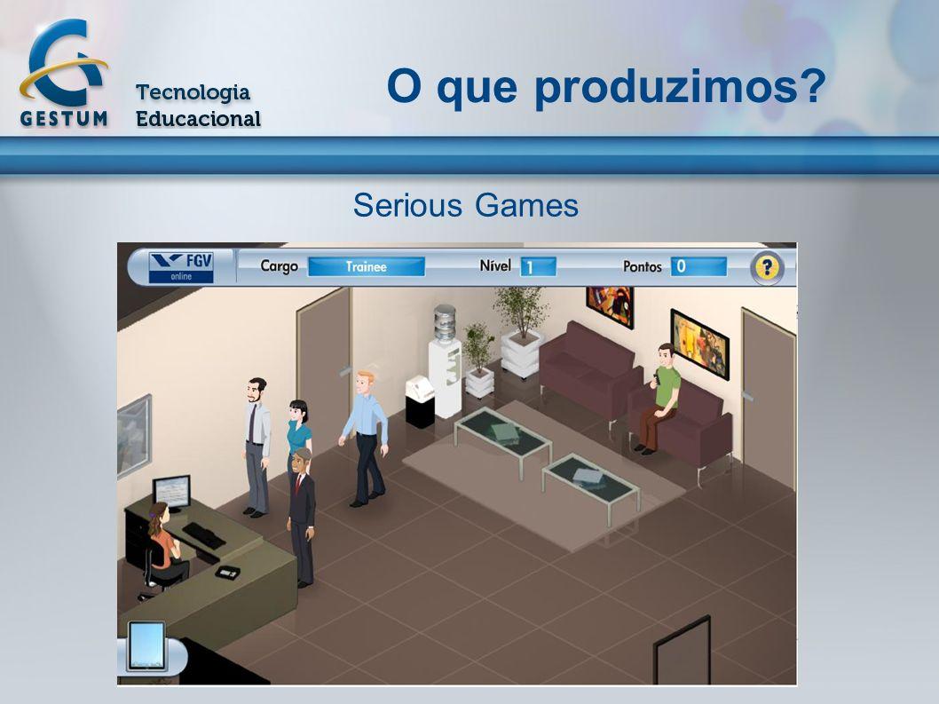 Serious Games Atualmente Forte mercado mundial de jogos digitais; Serious Games ou Game-Based Learning; Foco na educação/treinamento; Internet, fidelidade gráfica, recriação de ambientes para simulação; Eletronic Entertainment Expo (E3) e Game Developers Conference (GDC).