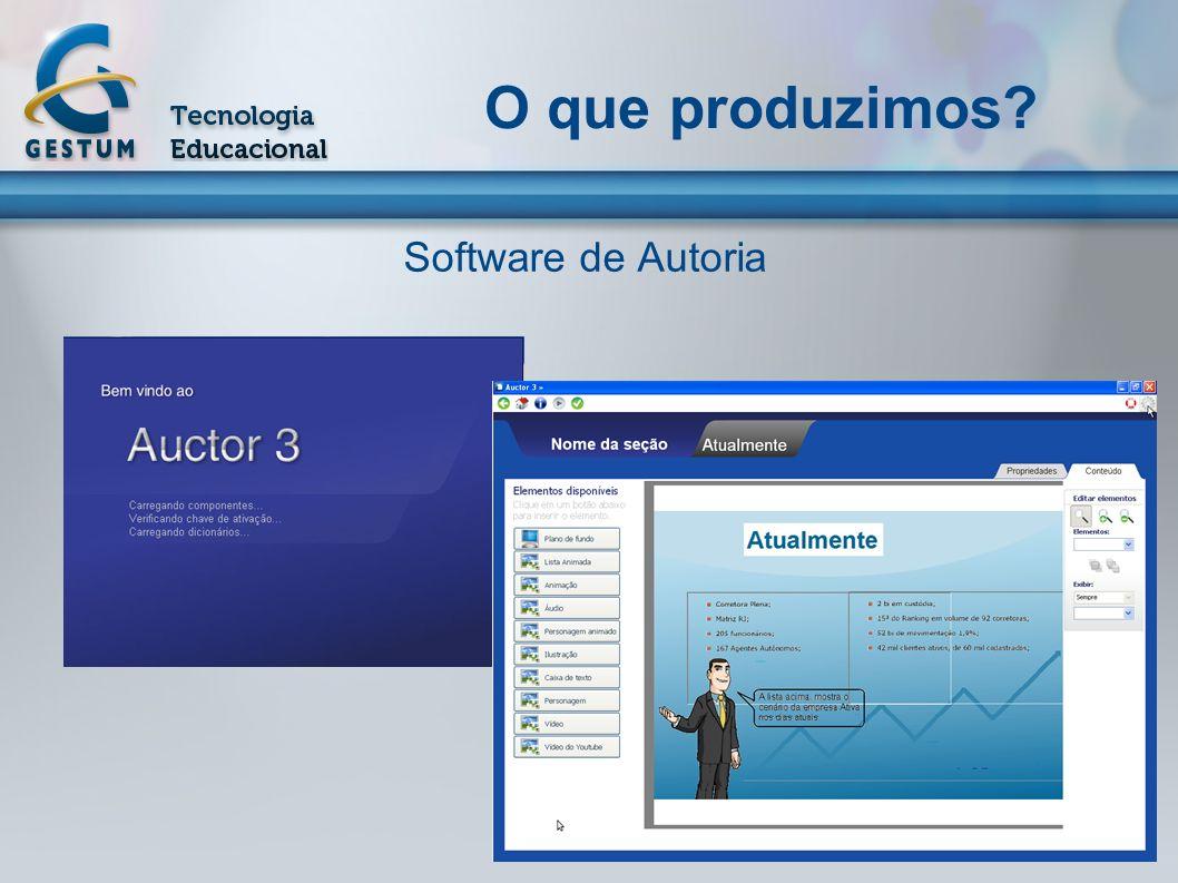 O que produzimos? Software de Autoria