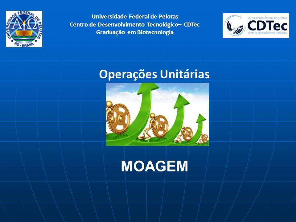Universidade Federal de Pelotas Centro de Desenvolvimento Tecnológico– CDTec Graduação em Biotecnologia Operações Unitárias MOAGEM