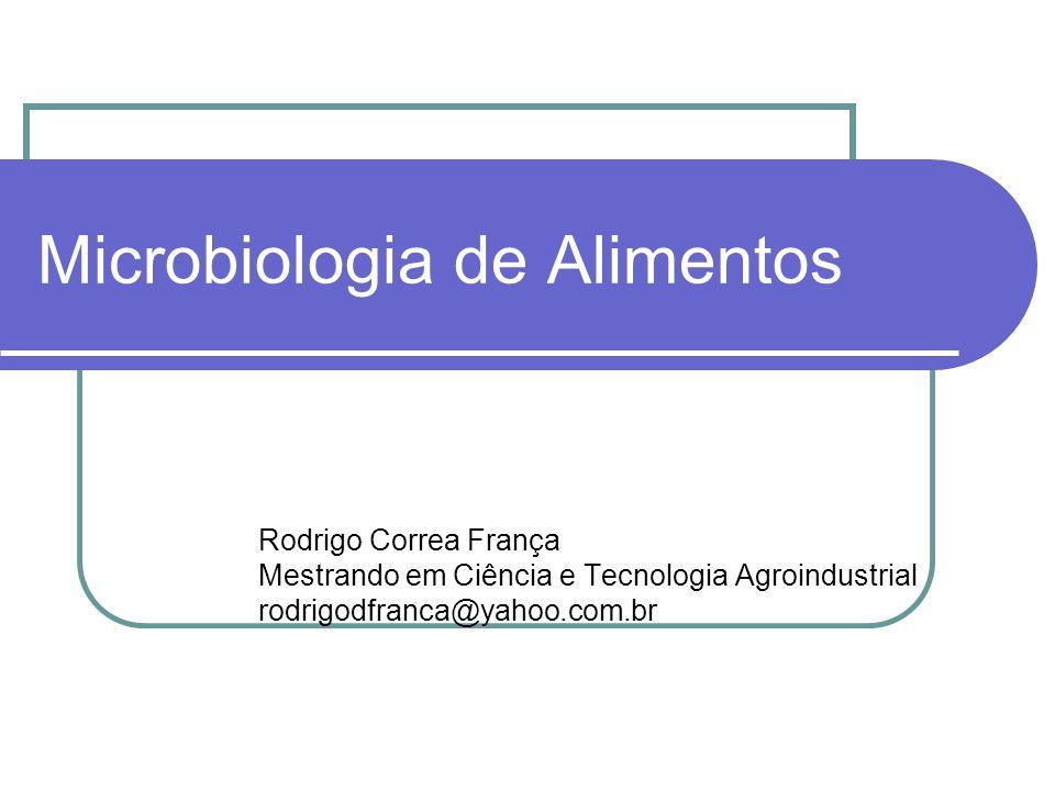 Microbiologia de Alimentos Rodrigo Correa França Mestrando em Ciência e Tecnologia Agroindustrial rodrigodfranca@yahoo.com.br
