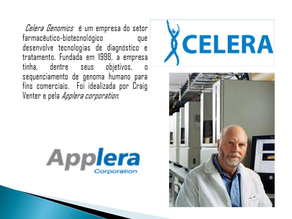 Celera Genomics é um empresa do setor farmacêutico-biotecnológico que desenvolve tecnologias de diagnóstico e tratamento. Fundada em 1998, a empresa t
