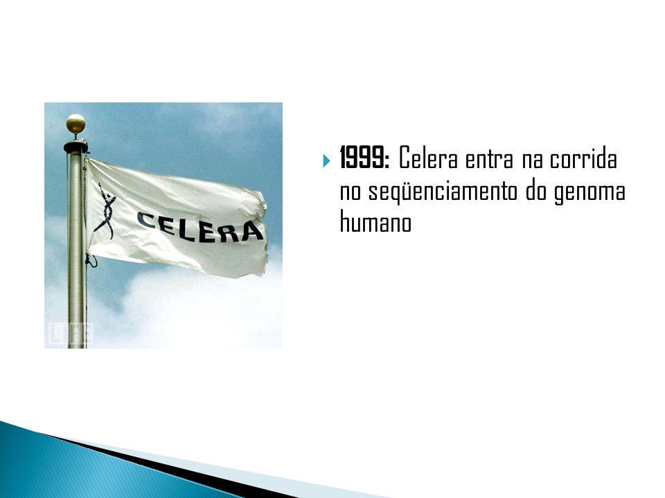 2001: O primeiro rascunho do genoma humano foi lançado ao mesmo tempo pela Celera e pelo Projeto Genoma Humano
