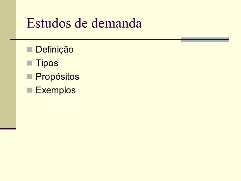 Definição Tipos Propósitos Exemplos