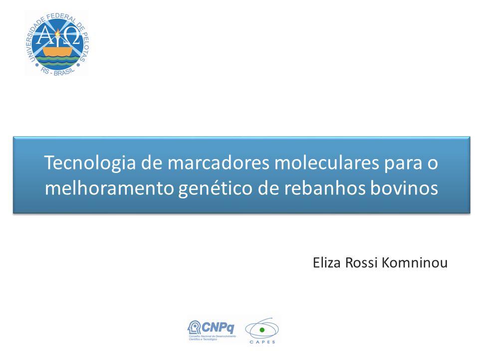 Tecnologia de marcadores moleculares para o melhoramento genético de rebanhos bovinos Eliza Rossi Komninou