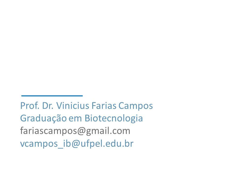 Prof. Dr. Vinicius Farias Campos Graduação em Biotecnologia fariascampos@gmail.com vcampos_ib@ufpel.edu.br