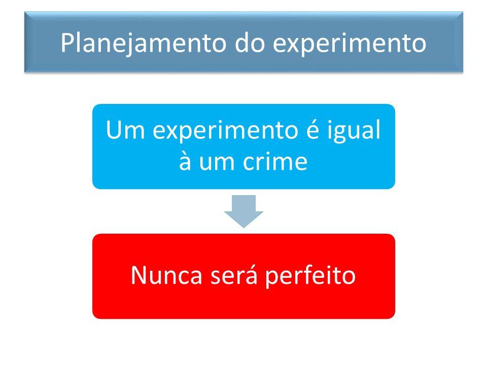 Planejamento do experimento Mas como driblamos este problema? Definindo objetivos específicos