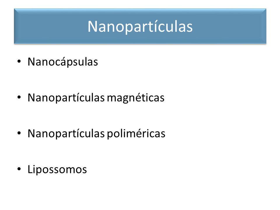 Nanocápsulas Nanopartículas magnéticas Nanopartículas poliméricas Lipossomos Nanopartículas