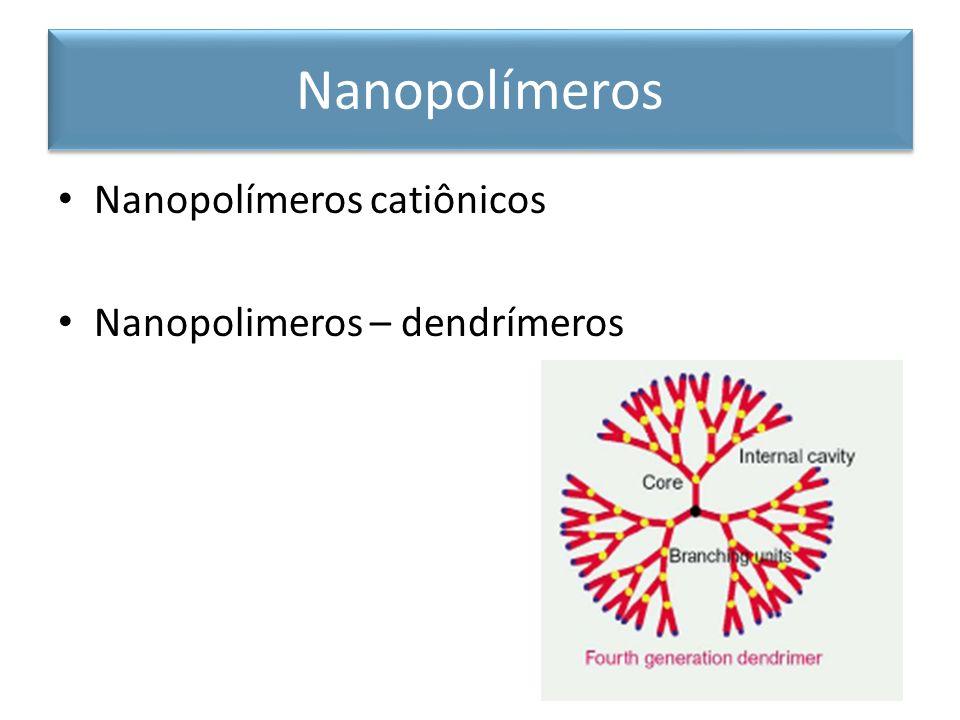 Nanopolímeros catiônicos Nanopolimeros – dendrímeros Nanopolímeros