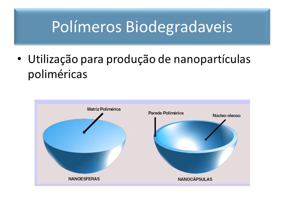 Utilização para produção de nanopartículas poliméricas Polímeros Biodegradaveis