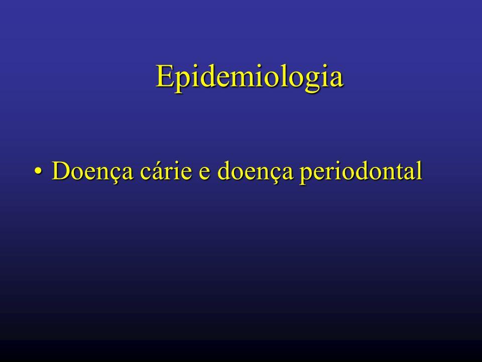 Epidemiologia Doença cárie e doença periodontalDoença cárie e doença periodontal